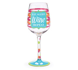WINE GLASS EAT/SLEEP
