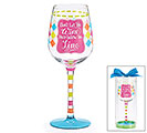 WINE GLASS WITH FILL LINE