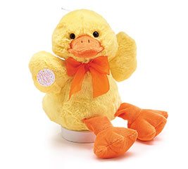 PLUSH DUCK WITH QUACK,QUACK,QUACK