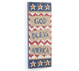 GOD BLESS AMERICA WOOD WALL HANGING