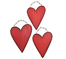 CORRUGATED TIN HEART WALL HANGING SET