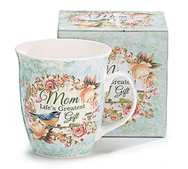 MOM LIFE'S/GIFT PORCELAIN MUG W/BOX