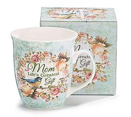 MOM LIFE'S/GIFT PORCELAIN MUG W/BOX