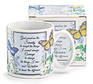 SERENITY PRAYER CERAMIC MUG W/BOX