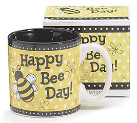 HAPPY BEE DAY CERAMIC MUG W/ BOX