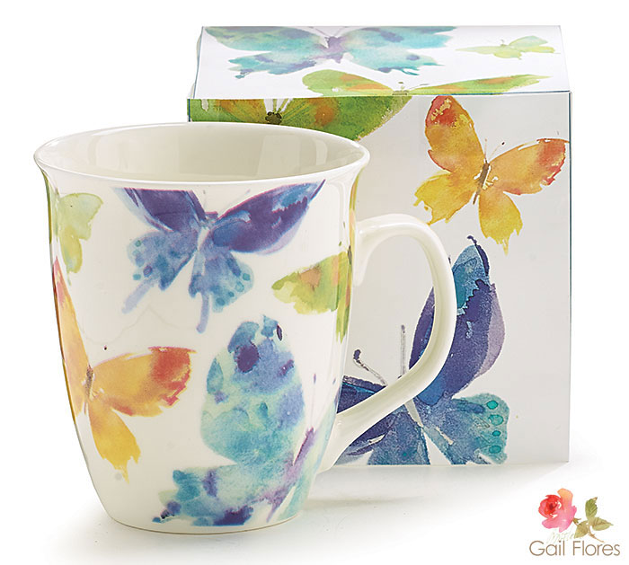 WOODLAND BUTTERFLY MUG W/BOX