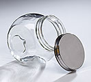 JAR GLASS WITH LID