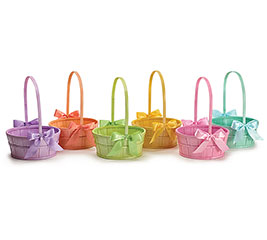 PERALIZED SPRING COLORS WOOD BASKET SET