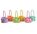 PEARLIZED SPRING COLOR WOOD BASKET ASST