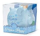 BLUE CERAMIC PRINCE PIG BANK 1st Alternate Image