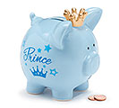 BLUE CERAMIC PRINCE PIG BANK