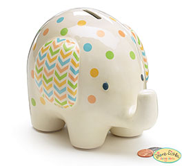 CERAMIC BABY ELEPHANT BANK