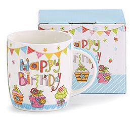 HAPPY BIRTHDAY BONE CHINA MUG W/ BOX