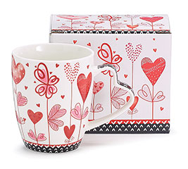 PINK/RED VALENTINE HEARTS MUG