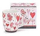 PINK/RED VALENTINE HEARTS MUG