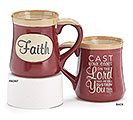 PSALM 55:22 FAITH PORCELAIN MUG