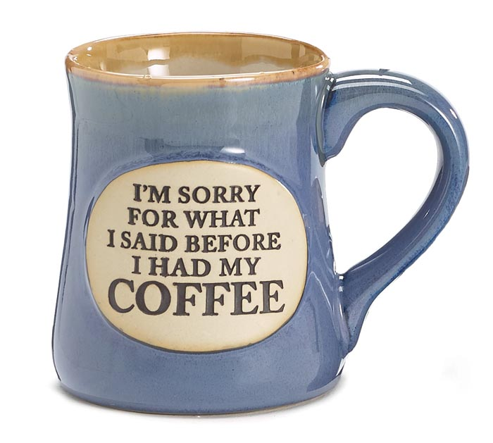 I'M SORRY MESSAGE PORCELAIN MUG