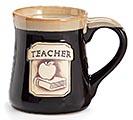 TEACHER/MESSAGE PORCELAIN MUG
