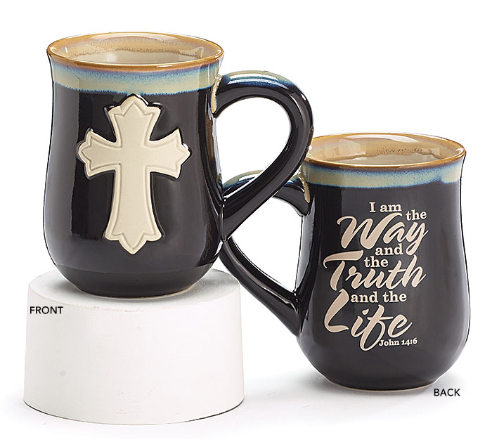 JOHN 14:6 CROSS PORCELAIN MUG