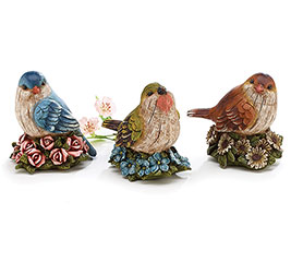 FIGURINE RESIN BIRDS