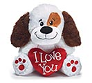 PLUSH I LOVE YOU VALENTINE PUPPY