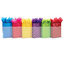BRIGHT STRIPES ASSORTED GIFT BAG SET