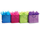 BRIGHT METALLIC DOTS ASSORTED GIFT BAG S