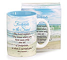 FOOTPRINTS IN THE SAND CERAMIC MUG W/BOX
