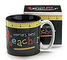 WORLD'S BEST TEACHER CERAMIC MUG W/BOX