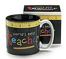 WORLD'S BEST TEACHER CERAMIC MUG W/BOX