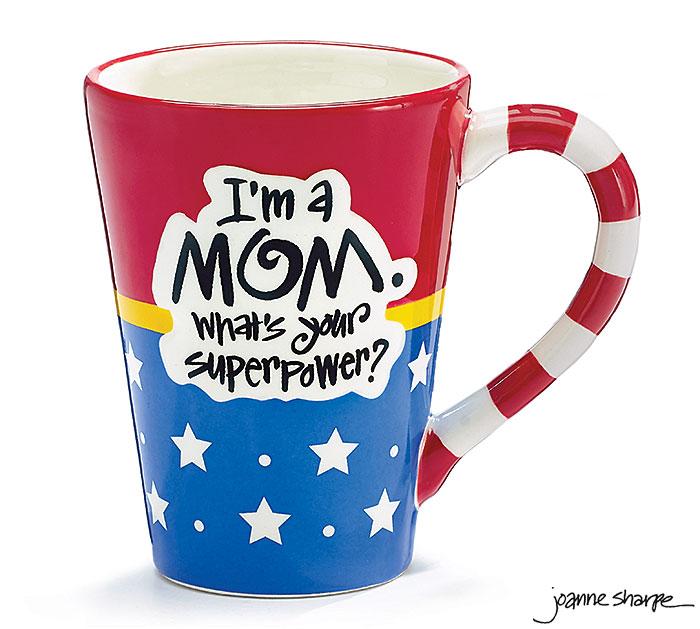 MOM SUPERPOWER CERAMIC MUG