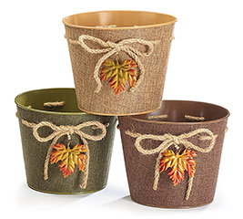 "6"" FALL LEAF POT COVER"