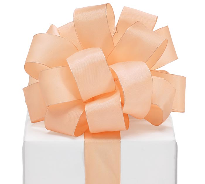 #9 LIGHT PEACH TAFFETA RIBBON