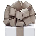 #9 WARM GRAY TAFFETA RIBBON