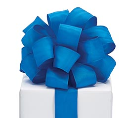 #9 INDIGO BLUE TAFFETA RIBBON