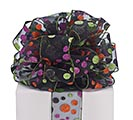 #40 HALLOWEEN GLITTER DOT RIBBON