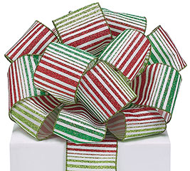 #40 CHRISTMAS STRIPE WIRED RIBBON