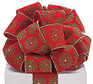 #40 RED VELVETEEN SNOWFLAKES RIBBON