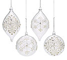 SNOW FLURRY GLASS ORNAMENT