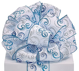 #40 GLITTER SWIRLS RIBBON
