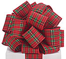 #40 CHRISTMAS PLAID WIRED RIBBON