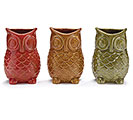 AUTUMN OWL SHAPED CERAMIC VASE