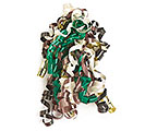 "1/4"" CAMOUFLAGE COLORS RIBBON SWIRL"