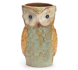 VASE LG TALL OWL SHAPE