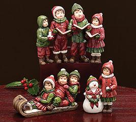 CHRISTMAS CHILDREN FIGURINE ASSORTMENT