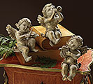 CHERUB TRIO RESIN SHELF SITTER