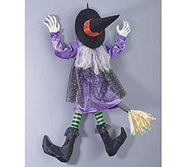 ANIMATED WITCH WALL HANGING