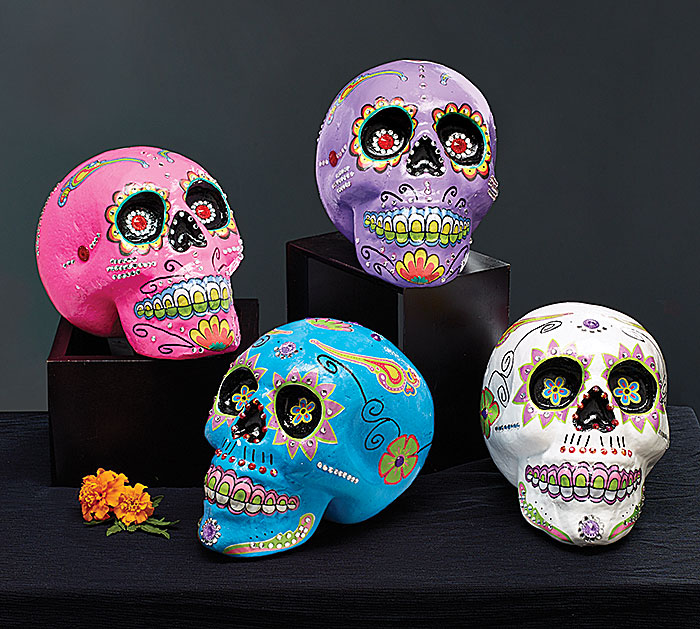FOAM DAY OF THE DEAD SKULL SET