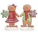 GINGERBREAD RESIN COUPLE HANDPAINTED
