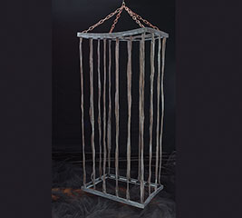 HANGING HALLOWEEN BLACK FABRIC CAGE